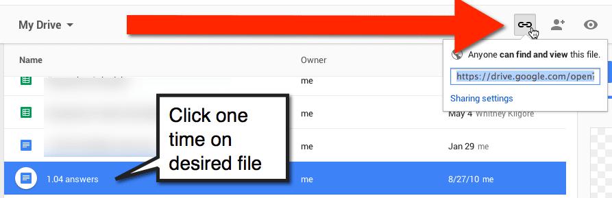 google drive share link