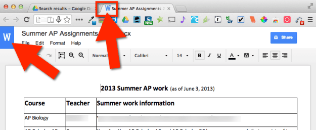 Edit Word in Google Drive