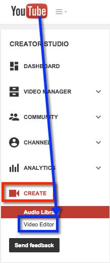 Youtube video editor creative studio