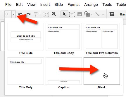 blank slide google slides