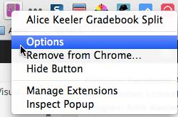 Alice Keeler Gradebook Split Options