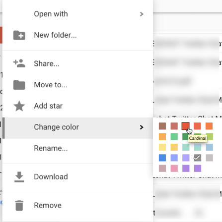 Change color of a google drive folder