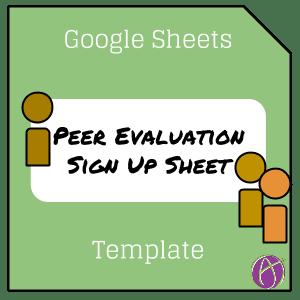 Google Sheets Alice Keeler Peer Evaluation Template