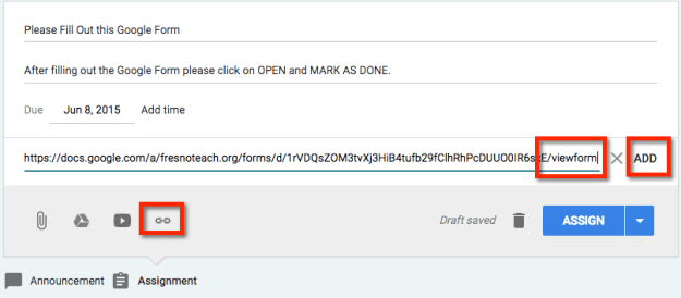 Paste the URL to the form and click add