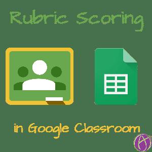 Google Classroom Rubric tab
