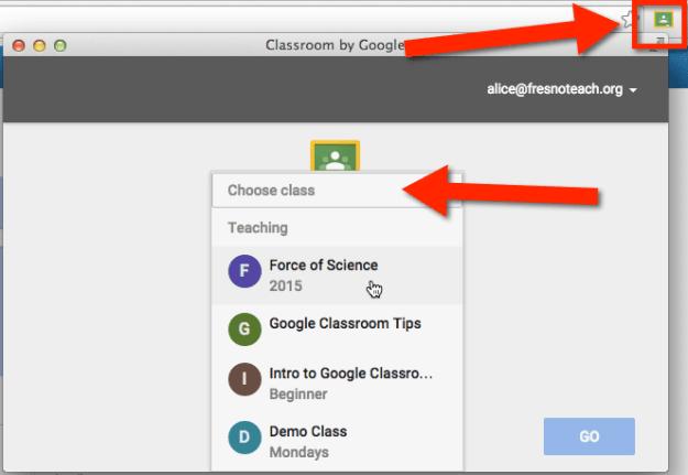 Google Classroom Chrome extension