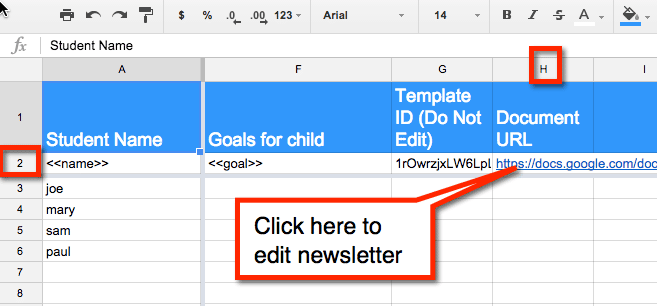 Edit Newsletter Link