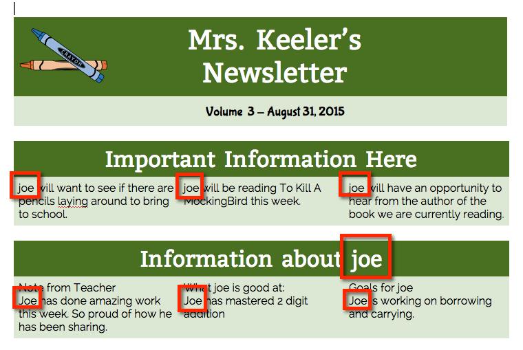 Merged newsletter