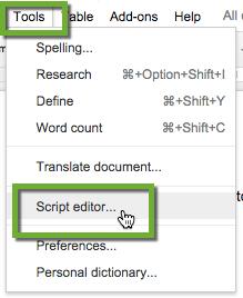 Tools Script Editor