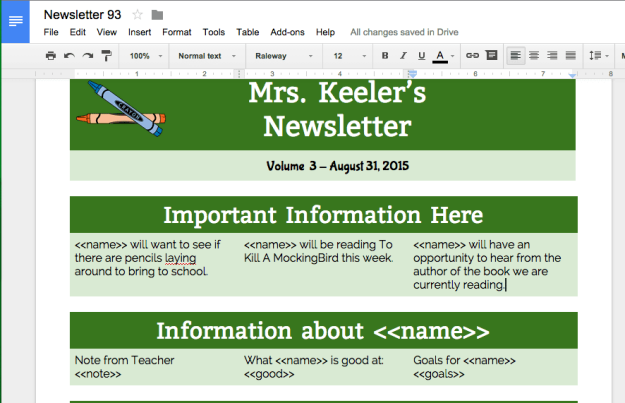 Customize the newsletter