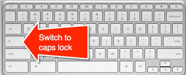chromebook switch to caps lock