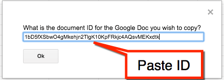 paste document ID