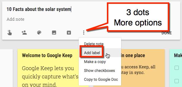 3 Dots more options