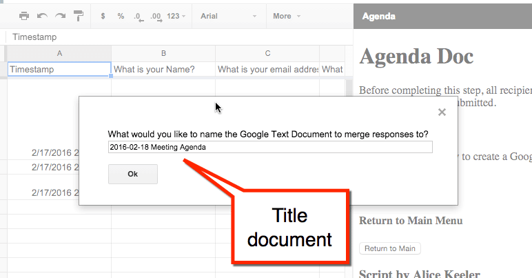 how to create a google doc form