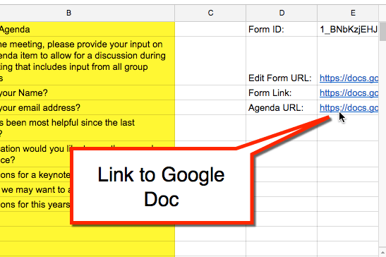 Link to Google Doc