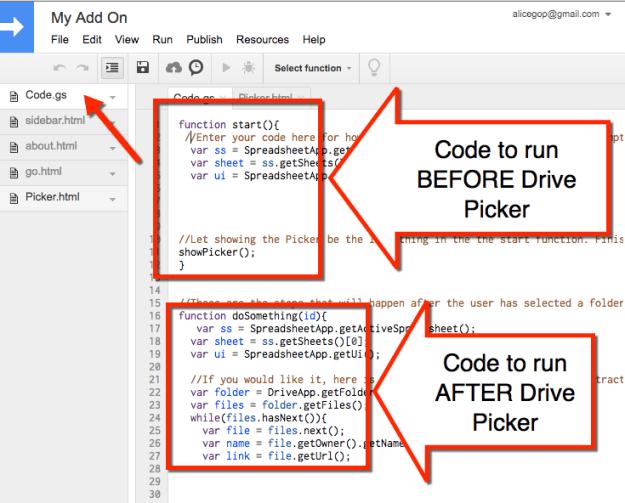 Code files