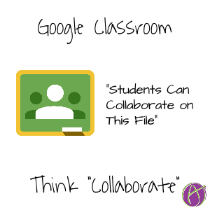 Students can collaborate on this file Google Classroom collaborate