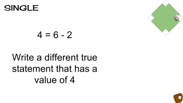single level question math baseball