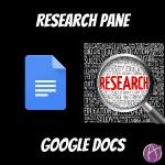 research pane in google docs