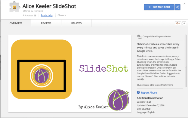 SlideShot Chrome Extension