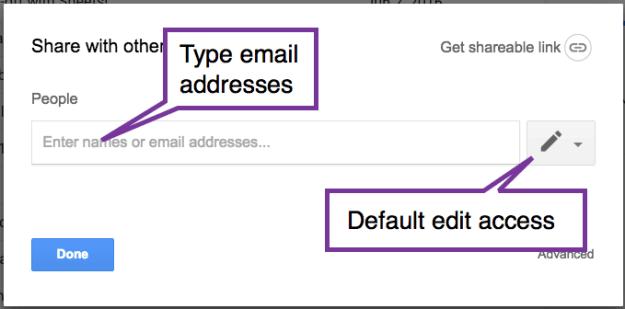 share a Google Drive folder