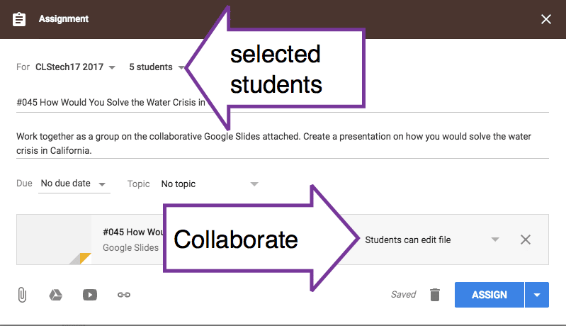 how to add assignments to google classroom