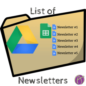 Google Drive: Make a List of Newsletters