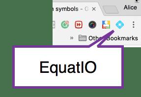 EquatIO Chrome extension