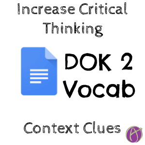 DOK 2 Vocabulary Activity