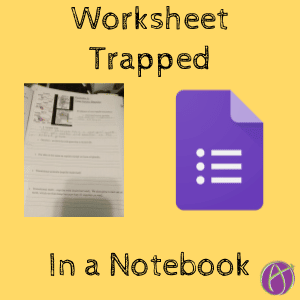 Worksheet Trapped in a Notebook