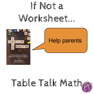 If Not a Worksheet, Then What?