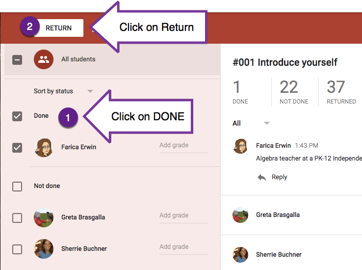 Click on Done and click on Return