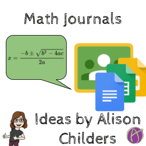 Math Journal Prompts by Alison Childers