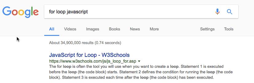 for loop javascript