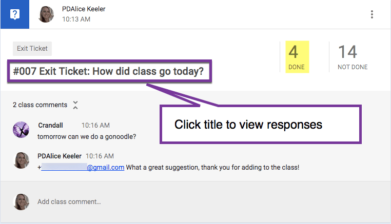 View student responses to the question