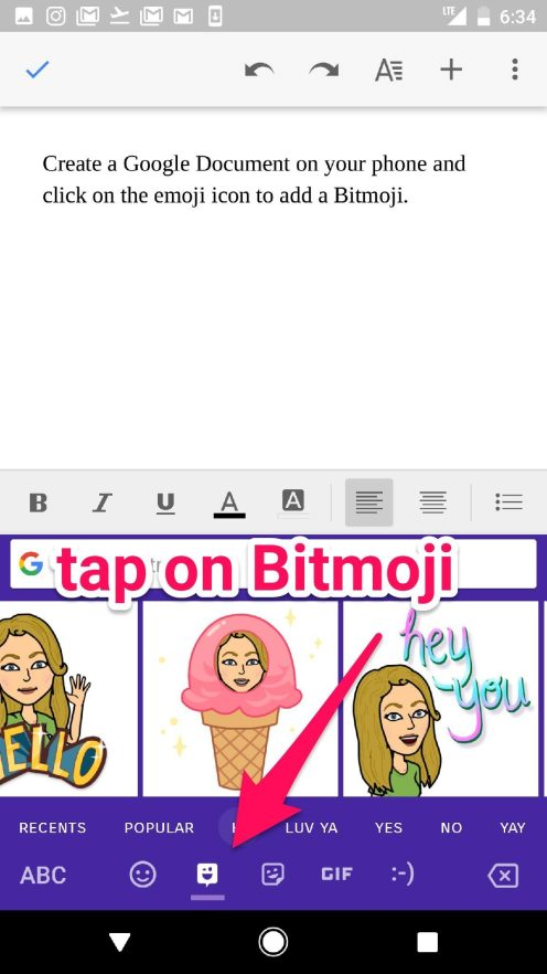 how to change sc bitmoji