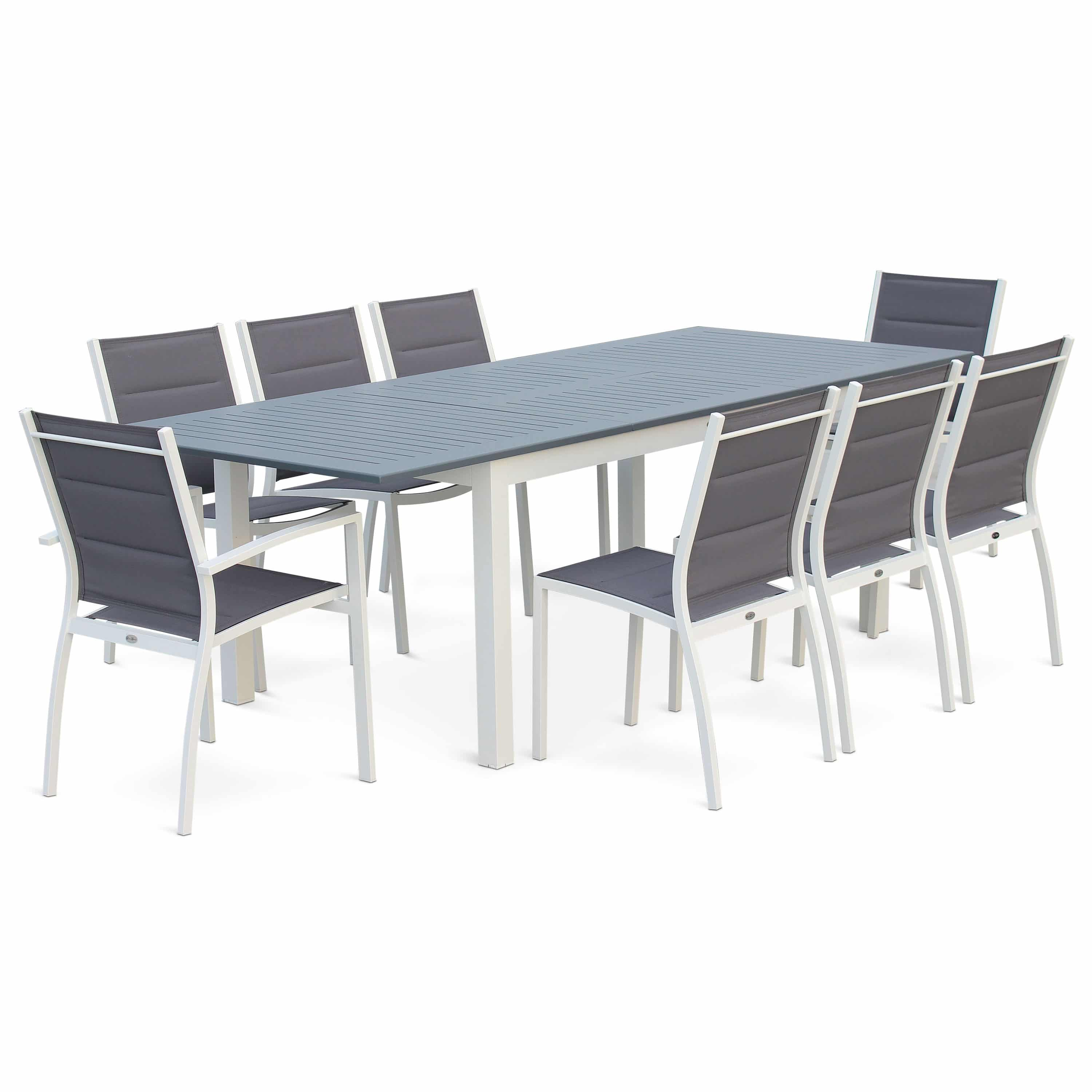 Salon De Jardin Chicago Alice Garden 8 10 Seater 175 245cm Extending Aluminium Dining Set 4