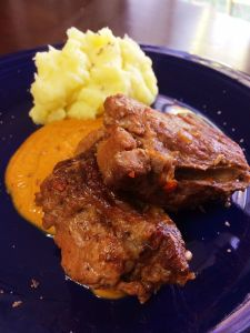 Braised country style pork ribs