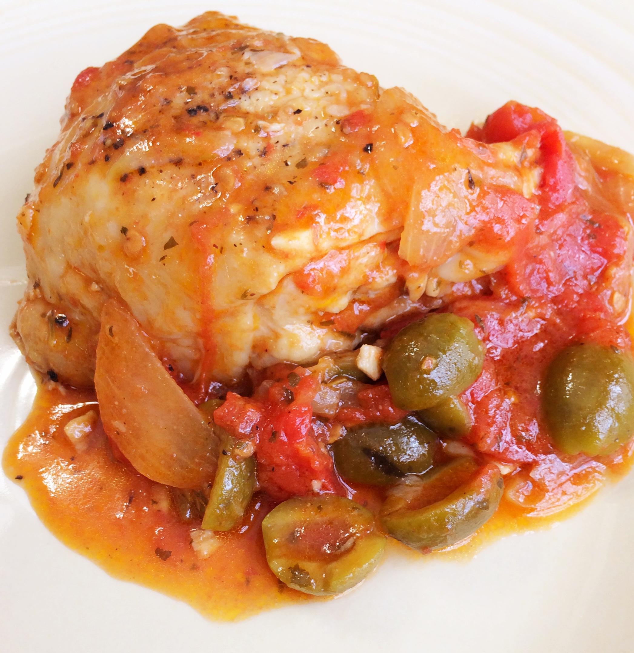Mediterranean Chicken Thighs and Eggplant Salad – Alicia ...