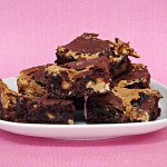 Ooey-Gooey Peanut Butter Brownies