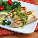 Grilled Lemon Chicken with Parsley Sauce