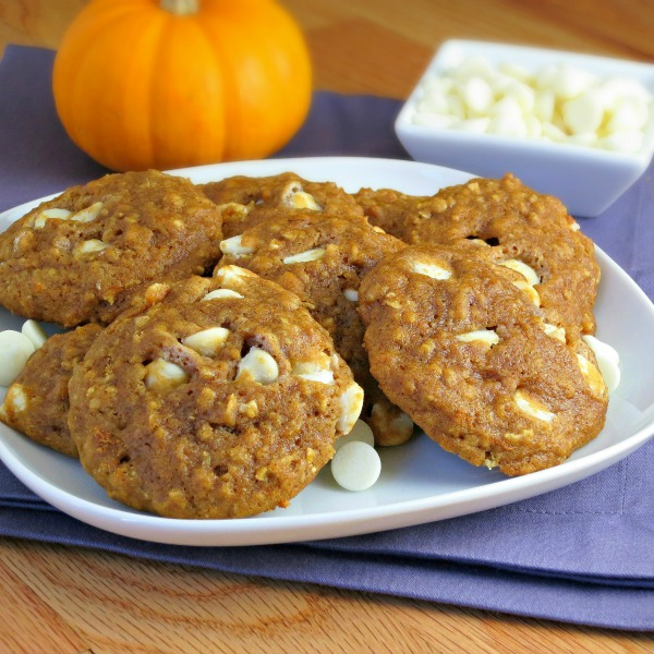 Pumpkin White Chocolate Chip Cookies from Alida's Kitchen