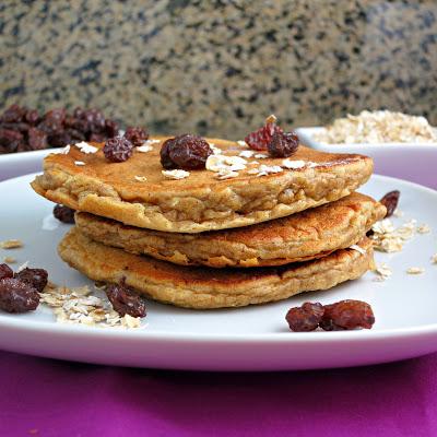 healthy oatmeal raisin buttermilk pancakes