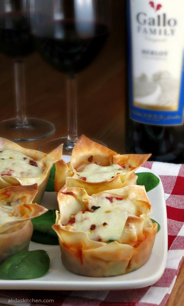 Spinach Lasagna Cups | alidaskitchen.com