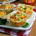 Buffalo Chicken Lasagna Cups | alidaskitchen.com