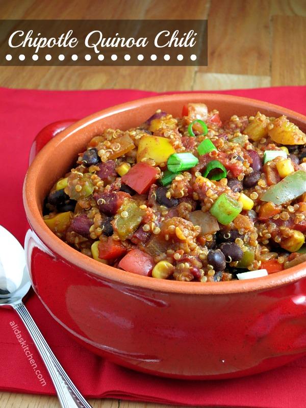 Chipotle Quinoa Chili   alidaskitchen.com