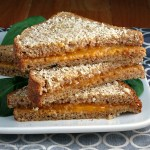 Parmesan Crusted Baked Grilled Cheese #SundaySupper