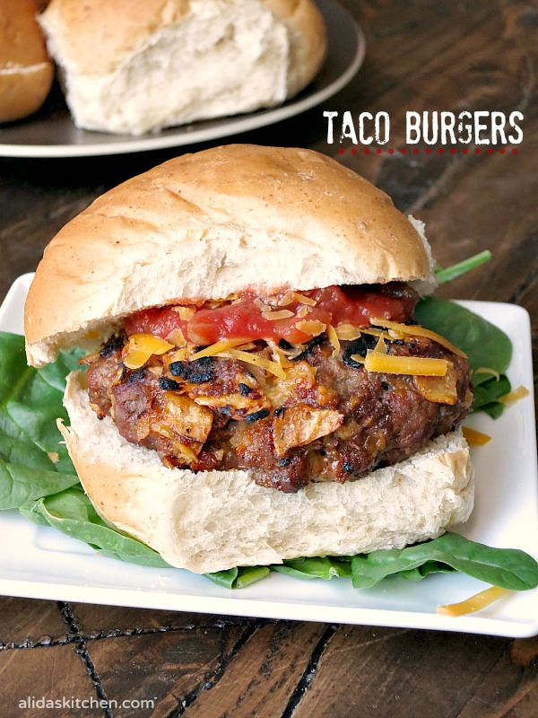 an American classic! Taco Burgers are everything delicious about tacos ...