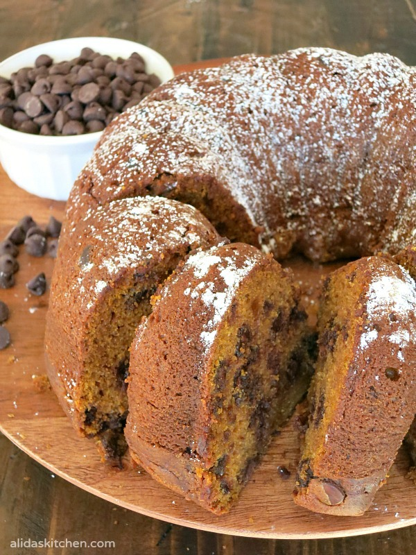 Pumpkin Chocolate Chip Bundt Cake #SundaySupper