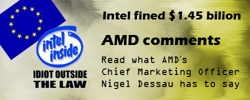 intel fined1 AMD Interview: EU Ruling on Intel